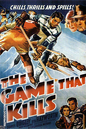 The Game That Kills, 1937 By Sporting-Movie-Posters - Oil Paintings & Art Reproductions - Reproduction Gallery
