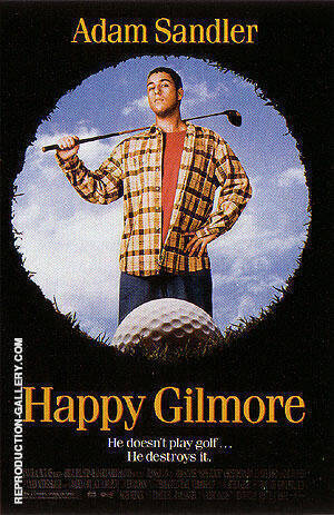 Happy Gilmore, 1996 Painting By Sporting-Movie-Posters