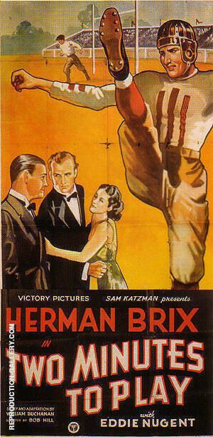 Two Minutes To Play, 1937 By Sporting-Movie-Posters