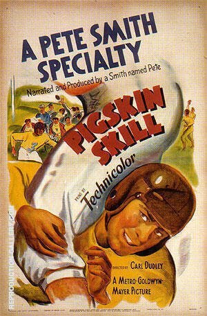 Pigskin Skill, 1937 By Sporting-Movie-Posters - Oil Paintings & Art Reproductions - Reproduction Gallery