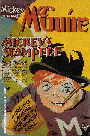 Mickey's Stampede, 1931 Painting By Sporting-Movie-Posters