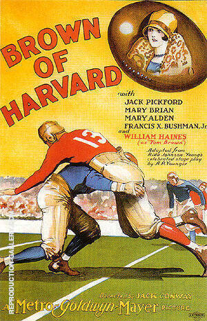 Reproduction of Brown Of Harvard, 1926 by Sporting-Movie-Posters | Oil Painting Replica On CanvasReproduction Gallery