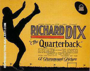 The Quarterback, 1926 Painting By Sporting-Movie-Posters