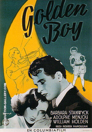 Golden Boy, 1939 By Sporting-Movie-Posters - Oil Paintings & Art Reproductions - Reproduction Gallery