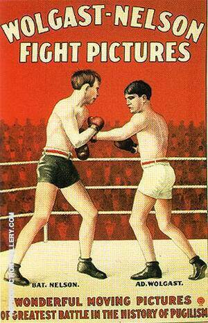 Wolgast-Nelson Fight Pictures, 1908 By Sporting-Movie-Posters Replica Paintings on Canvas - Reproduction Gallery