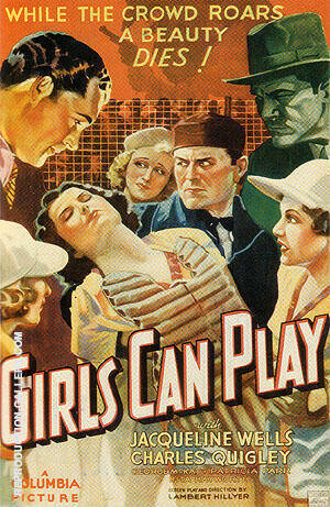 Girls Can Play, 1937 Painting By Sporting-Movie-Posters