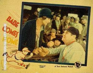 Babe Comes Home II, 1927 Painting By Sporting-Movie-Posters