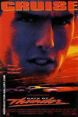 Days Of Thunder, 1990 Painting By Sporting-Movie-Posters