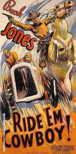 Ride 'EM Cowboy!, 1936 By Sporting-Movie-Posters Replica Paintings on Canvas - Reproduction Gallery