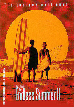 THE ENDLESS SUMMER II, 1994 By Sporting-Movie-Posters Replica Paintings on Canvas - Reproduction Gallery