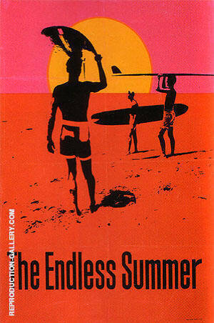 THE ENDLESS SUMMER, 1966 Painting By Sporting-Movie-Posters