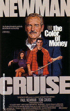 THE COLOR OF MONEY, 1986 Painting By Sporting-Movie-Posters