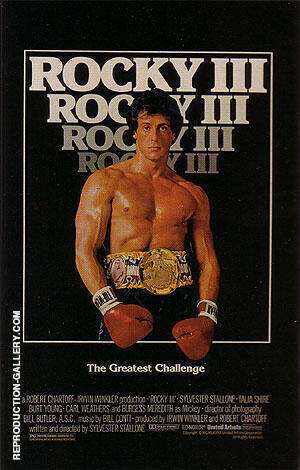 ROCKY III, 1982 By Sporting-Movie-Posters Replica Paintings on Canvas - Reproduction Gallery