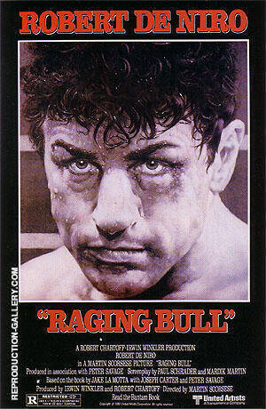 RAGING BULL, 1980 By Sporting-Movie-Posters - Oil Paintings & Art Reproductions - Reproduction Gallery