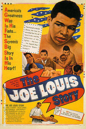 THE JOE LOUIS STORY, 1953 Painting By Sporting-Movie-Posters