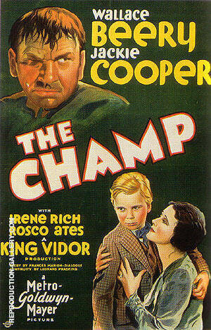THE CHAMP, 1931 By Sporting-Movie-Posters