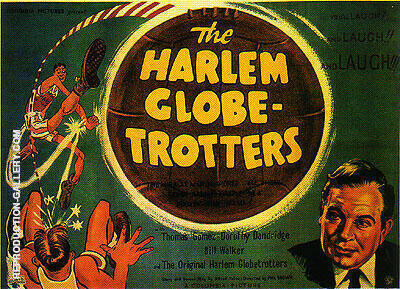 THE HARLEM GLOBE-TROTTERS II, 1952 By Sporting-Movie-Posters
