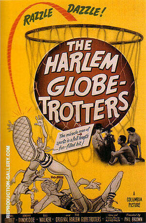 THE HARLEM GLOBE-TROTTERS, 1952 By Sporting-Movie-Posters - Oil Paintings & Art Reproductions - Reproduction Gallery