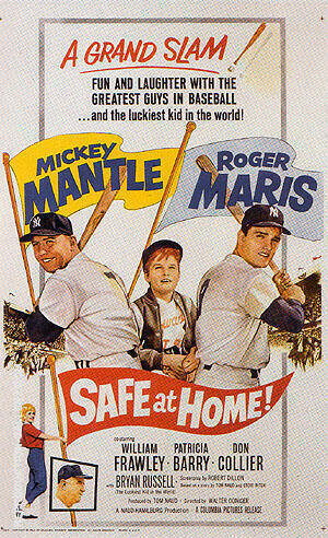 SAFE AT HOME!, 1962 By Sporting-Movie-Posters