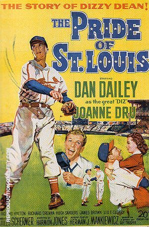 THE PRIDE OF ST.LOUIS, 1952 By Sporting-Movie-Posters