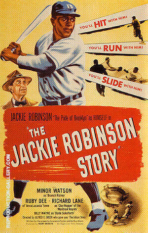 THE JACKIE ROBINSON STORY, 1950 By Sporting-Movie-Posters - Oil Paintings & Art Reproductions - Reproduction Gallery