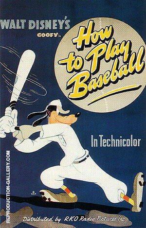 HOW TO PLAY BASEBALL, 1942 By Sporting-Movie-Posters Replica Paintings on Canvas - Reproduction Gallery