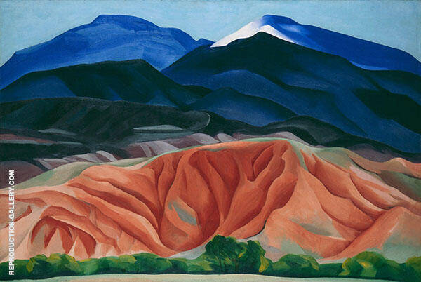 Black Mesa Landscape New Mexico 1930 Painting By Georgia O'Keeffe