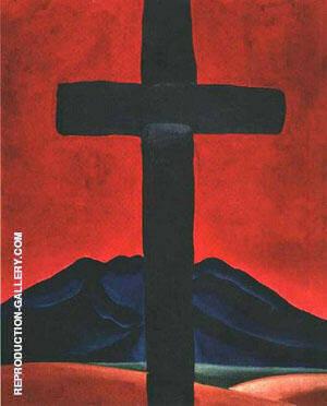 Cross with Red Sky 1929 By Georgia O'Keeffe