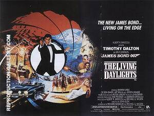 The Living Daylights 1987 By James-Bond-007-Posters Replica Paintings on Canvas - Reproduction Gallery