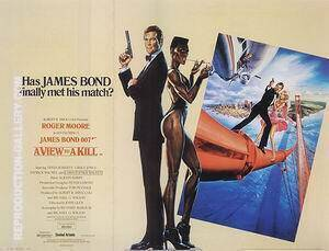 A View To A Kill 1985 Painting By James-Bond-007-Posters