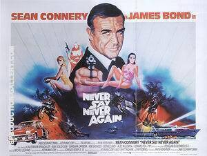 Never Say Never Again 1984 Painting By James-Bond-007-Posters