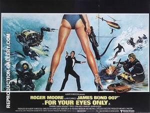 For your Eyes Only 1981 By James-Bond-007-Posters