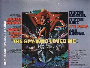 The Spy Who Loved Me, 1977 By James-Bond-007-Posters Replica Paintings on Canvas - Reproduction Gallery