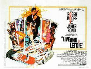 Live And Let Die, 1973 Painting By James-Bond-007-Posters