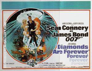 Diamonds Are Forever, 1971 By James-Bond-007-Posters