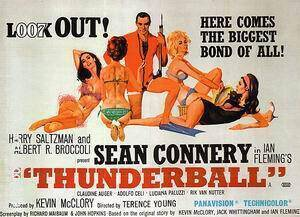 Thunderball, 1965 Painting By James-Bond-007-Posters