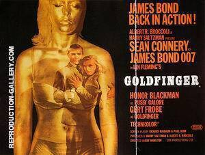 Goldfinger, 1964 By James-Bond-007-Posters Replica Paintings on Canvas - Reproduction Gallery