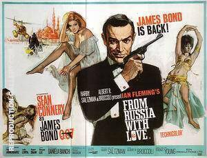 From Russia With Love, 1963 By James-Bond-007-Posters - Oil Paintings & Art Reproductions - Reproduction Gallery