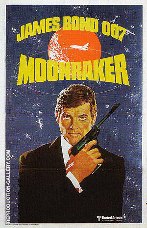 Moonraker III Painting By James-Bond-007-Posters - Reproduction Gallery