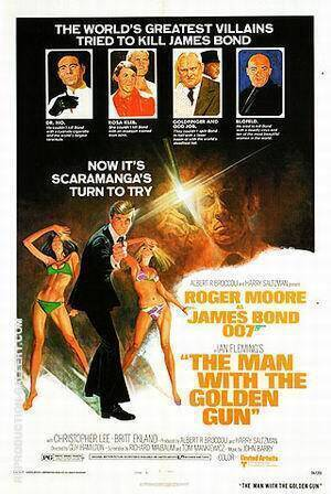 The Man With The Golden Gun By James-Bond-007-Posters