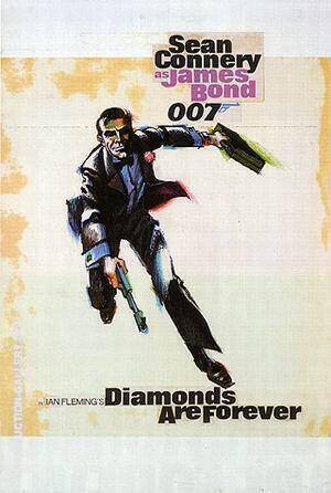 Diamonds Are Forever II Painting By James-Bond-007-Posters