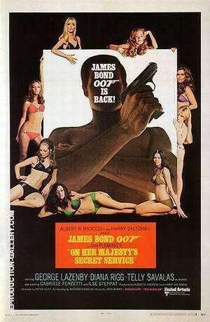 On Her Majesty's Secret Service By James-Bond-007-Posters