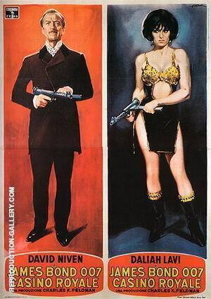 Casino Royale III Painting By James-Bond-007-Posters