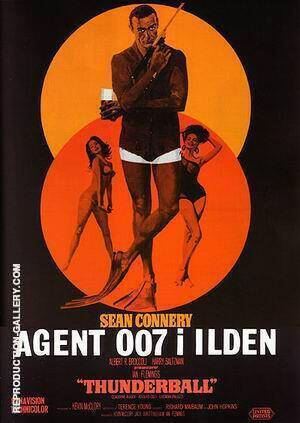 Thunderball II Painting By James-Bond-007-Posters - Reproduction Gallery