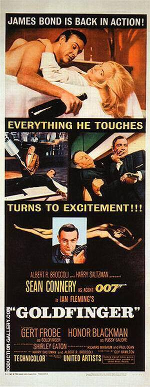 Goldfinger III Painting By James-Bond-007-Posters - Reproduction Gallery