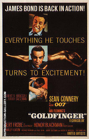 Goldfinger II By James-Bond-007-Posters - Oil Paintings & Art Reproductions - Reproduction Gallery