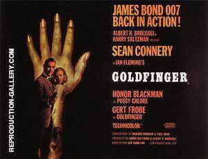 Goldfinger I By James-Bond-007-Posters