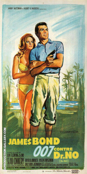 Dr. No By James-Bond-007-Posters - Oil Paintings & Art Reproductions - Reproduction Gallery