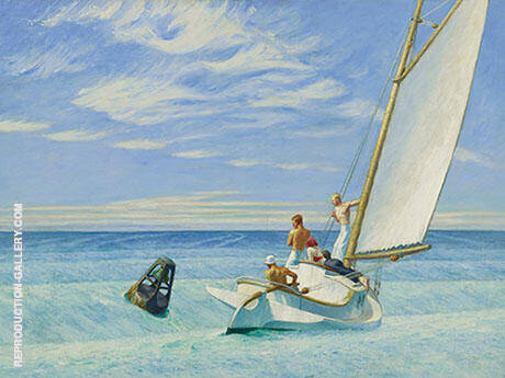 Ground Swell 1939 By Edward Hopper - Oil Paintings & Art Reproductions - Reproduction Gallery