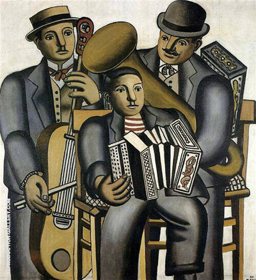 Three Musicians 1930 By Fernand Leger - Oil Paintings & Art Reproductions - Reproduction Gallery